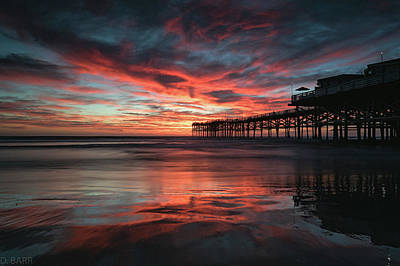 Fire Burns Photograph - Fall Skies by Doug Barr