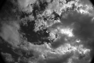 Photograph - Fall Sky 11 Bw by Mary Bedy