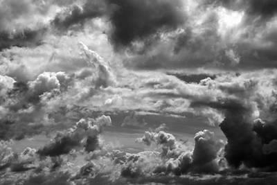 Photograph - Fall Sky 5 Bw by Mary Bedy