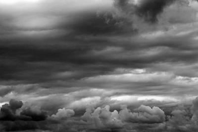 Photograph - Fall Sky 6 Bw by Mary Bedy