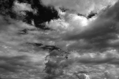 Photograph - Fall Sky 7 Bw by Mary Bedy