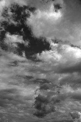 Photograph - Fall Sky 9 Bw by Mary Bedy
