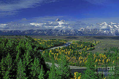 Photograph - Fall Snake River Overlook Grand Tetons National Park Wyoming by Dave Welling