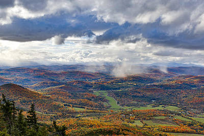 Photograph - Fall Snow Squalls  by Vance Bell