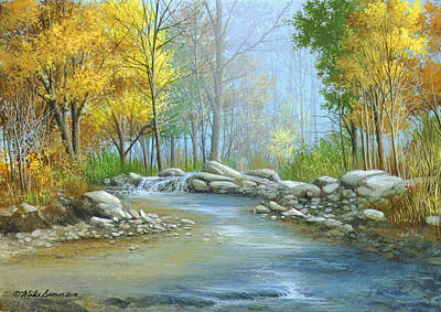 Fall Solitude Art Print by Mike Brown