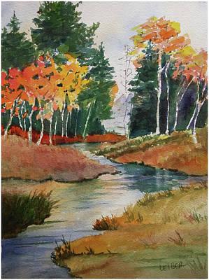 Fall Splendor At The Stream Original