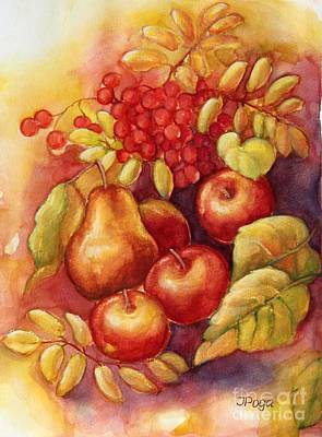Painting - Fall Still Life by Inese Poga