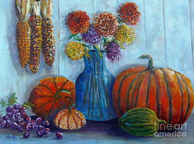 Painting - Autumn Still Life by Lou Ann Bagnall