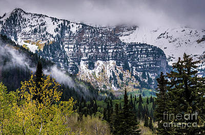 Print featuring the photograph Fall Storm In Wasatch Mountains - Utah by Gary Whitton