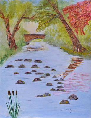 Fall Stream Land Scape Art Print by Jonathan Galente
