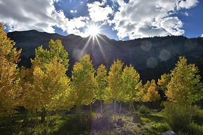 Photograph - Fall Sun Setting Over Mt. Charleston by Ray Mathis
