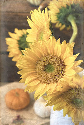 Photograph - Fall Sunflowers by Teresa Wilson