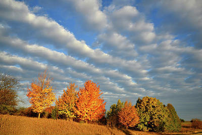 Photograph - Fall Sunrise Along Route 31 In Mchenry County by Ray Mathis