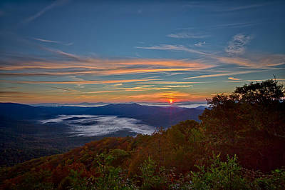 Digital Art - Fall Sunrise In The Smokies by John Haldane