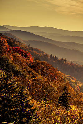 Photograph - Fall Sunrise In The Smokies by Teri Virbickis