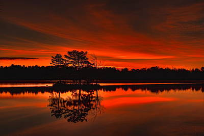 Photograph - Fall Sunrise Over Boom Lake by Dale Kauzlaric