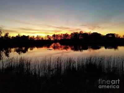 Photograph - Fall Sunset by David Bearden
