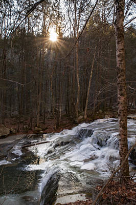 Photograph - Fall Sunset On Stream by Vance Bell