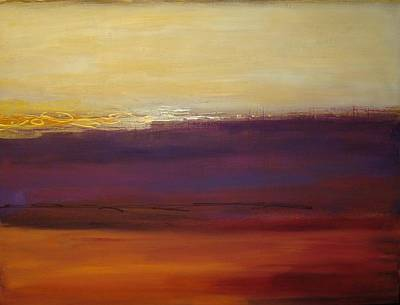 Fall Sunset Art Print by Ora Birenbaum