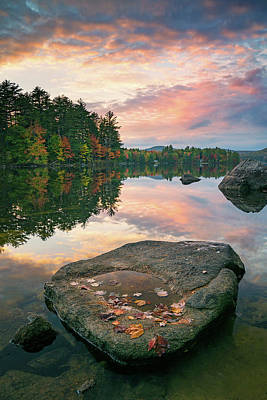 Photograph - Fall Sunset Over Bear Pond by Darylann Leonard Photography