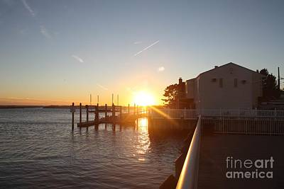 Photograph - Fall Sunset Over Freeport Canal by John Telfer