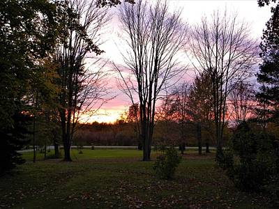 Outdoors Photograph - Fall Sunset by Ric Schafer