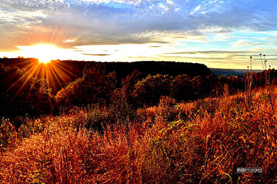 Photograph - Fall Sunset by Susie Loechler