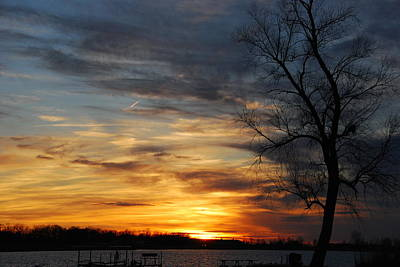 Photograph - Fall Sunset by Wanda Jesfield