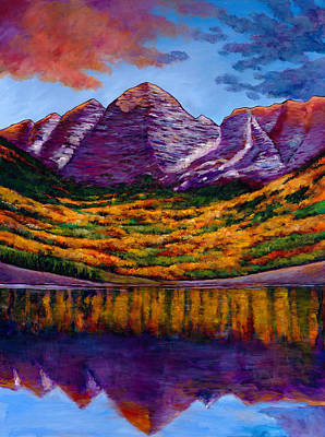 Aspen Tree Painting - Fall Symphony by Johnathan Harris