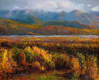 Alaskan Painting - Fall by Talya Johnson