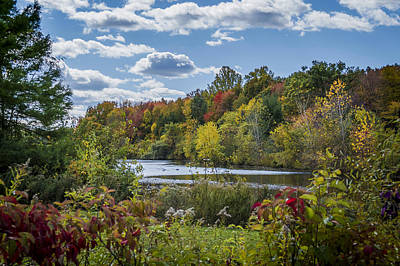 Fall Time On The Lake Art Print