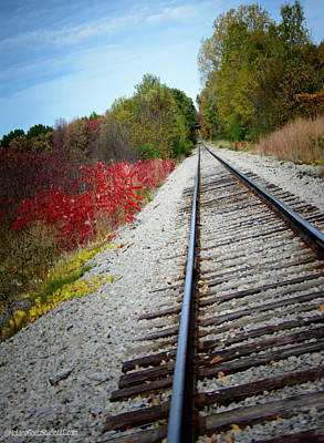 Photograph - Fall Train Tracks by LeeAnn McLaneGoetz McLaneGoetzStudioLLCcom