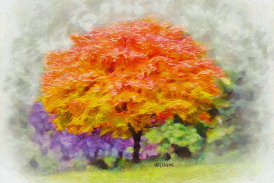 Art Print featuring the painting Fall Tree by Greg Collins