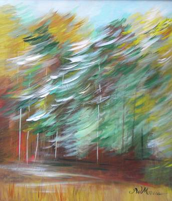 Fall Trees At The Ridge Art Print