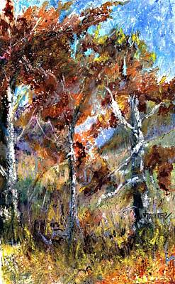 Fall Trees Art Print by Jimmie Trotter
