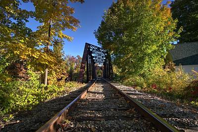 Photograph - Fall Trestle by Dan Poirier