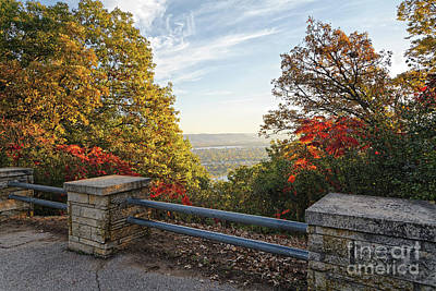 Photograph - Fall View Of Winona Minnesota With Railing by Kari Yearous