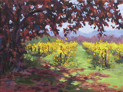 Painting - Fall Vineyard by Karen Ilari