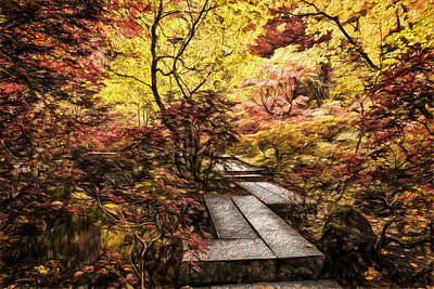 Photograph - Fall Walkway by Wes and Dotty Weber