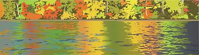 Wall Art - Painting - Fall Water Colors by Marian Federspiel
