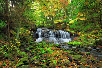 Photograph - Fall Water Falls  by Emmanuel Panagiotakis