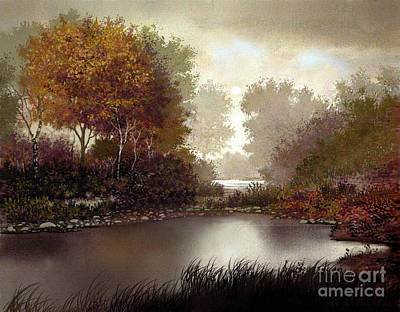 Fallen Leaf Digital Art - Fall Waters by Robert Foster
