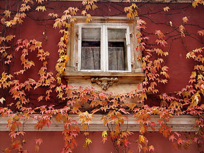 Photograph - Fall Window,prague by Ken Ketchum
