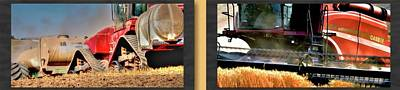 Photograph - Fall Work Harvest Collage 2 by Jerry Sodorff