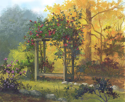 Painting - Fall Yellow by Michael Humphries