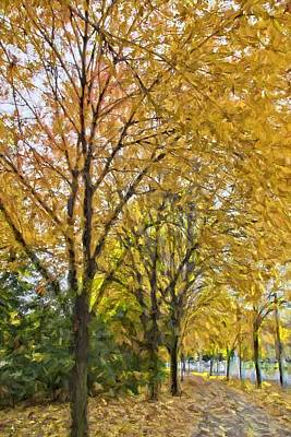 Photograph - Fall Yellows by Alice Gipson