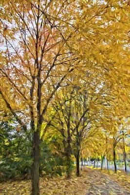 Photograph - Fall Yellows by Alice Gipson