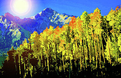 Painting - Fall Morning In The Rocky Mountains by David Lee Thompson