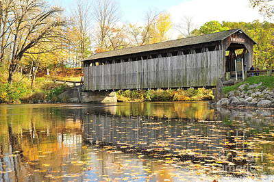 Fallasburg Covered Bridge 15 Art Print