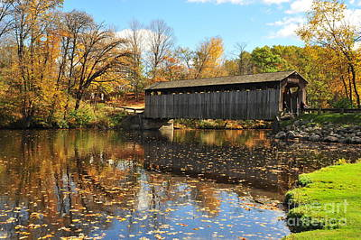 Fallasburg Covered Bridge 3 Art Print